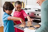 Children choosing cookies