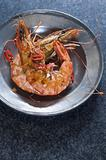 Tiger prawns with chilli