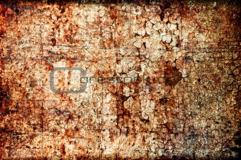 Abstract grunge texture: scratches, dirt, rust and spots on wall