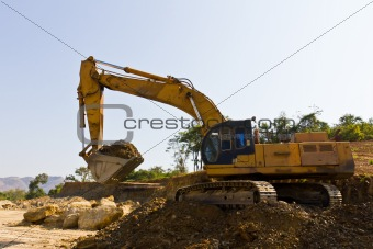 Excavator loader machine