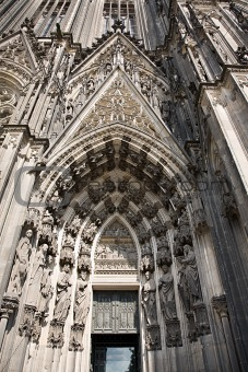 Entrance to cologne cathedral