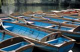 Moored boats in oxford
