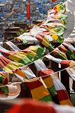 Prayer flags over jodhpur
