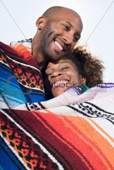 Couple in a blanket
