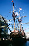 Replica of the golden hinde