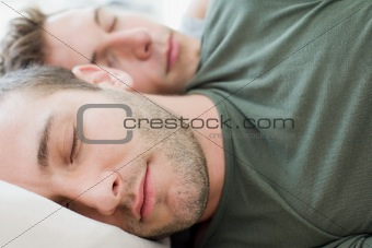 Men sleeping