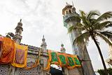 Banners hanging on haji ali dargah