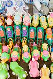 Toys on a market stall