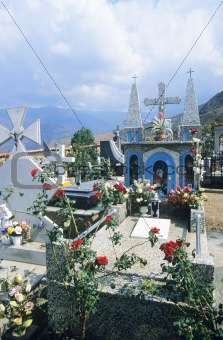 Cemetery in the andes