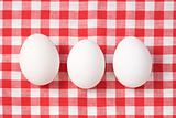 Eggs on a tablecloth