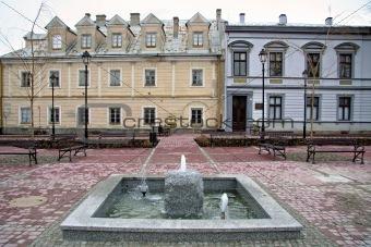 Town square of Sanok