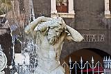 Square fountain River Amenano, Catania