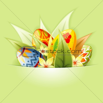 Easter Background with Eggs mounted in pocket