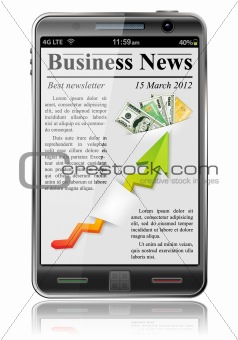 Business News on Smart Phone