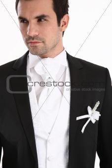Portrait of handosome man in tuxedo