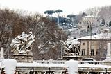 Rare snowfall in Rome.