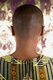 Rear view of an african woman
