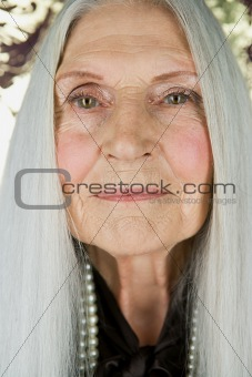 Portrait of a senior caucasian woman