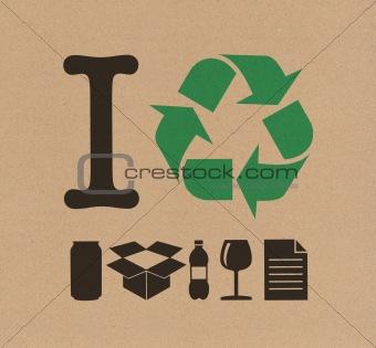 I Recycle cardboard