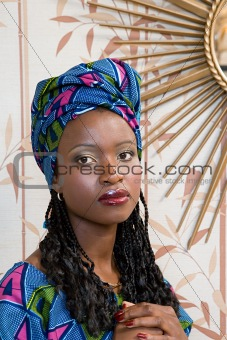 Portrait of a jamaican woman