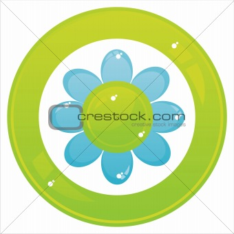 colorful flower button