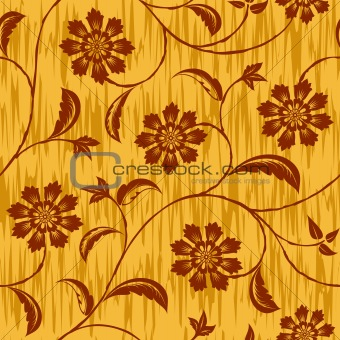 abstract flowers seamless repeat pattern background