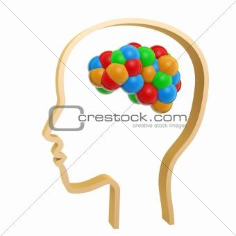 colorful atom brain