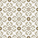 Seamless brown-white vintage pattern