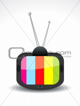 abstract television icon