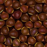 seamless brown chestnut snack background pattern