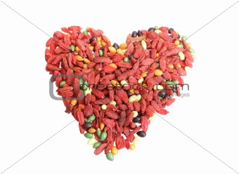 red dried goji berries traditional chinese herbal medicine