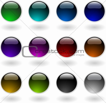 the vector color circle button