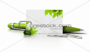 green business contact card