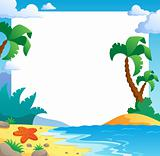 Beach theme frame 1