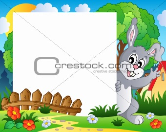 Frame with Easter bunny theme 1