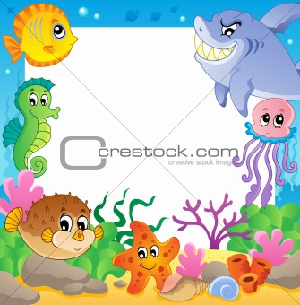 Frame with underwater animals 2