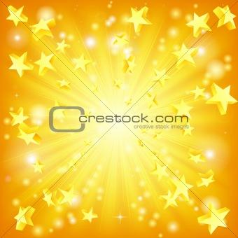 Exploding stars background