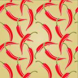Seamless Chili pepper pattern for delicious works