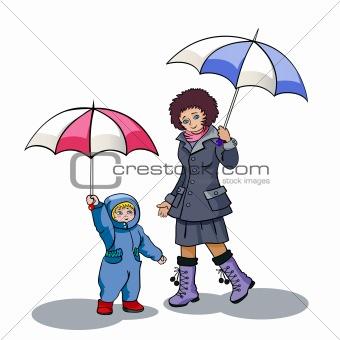 Under a rain