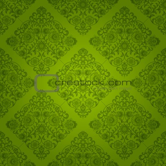 Seamless floral pattern. Retro background. Vector illustration.