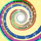 Abstract swirl background. EPS10. Used transparency layers of spotlights and spiral object