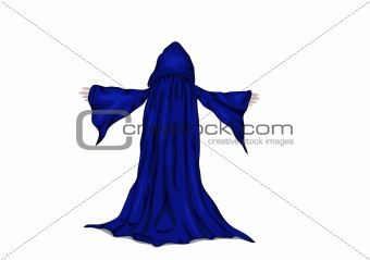 colorful vector illustration of a wizard or a monk. eps8
