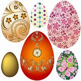 Set Easter`s eggs