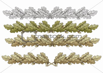 Oak Wreathes vector
