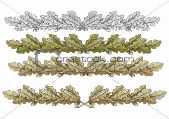 Oak Wreathes vector