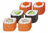 Sushi Rolls vector