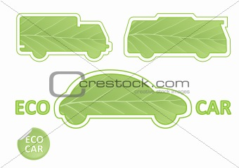 Eco Car Emblems vector