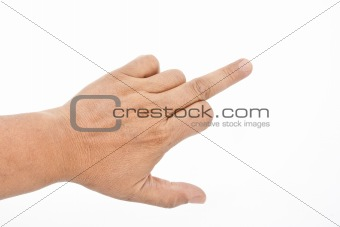 Man's hand show middle finger