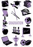 Graduation silhouettes