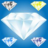 Vector illustration of diamond icon